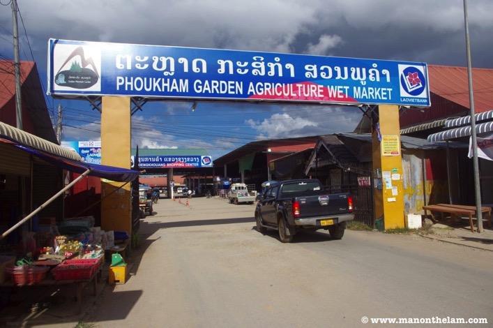 Phoukham Garden Agriculture Wet Market Phonsavan Laos