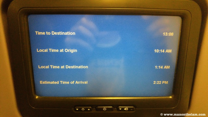 Long haul flight back seat plane monitor