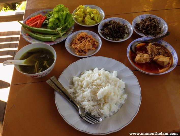 Traditional Burmese Food in Bagan Myanmar