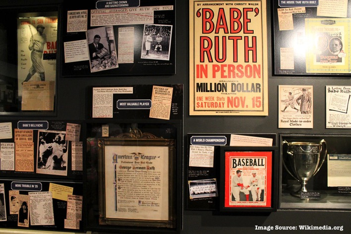 Babe Ruth Hall of Fame exhibit 2014