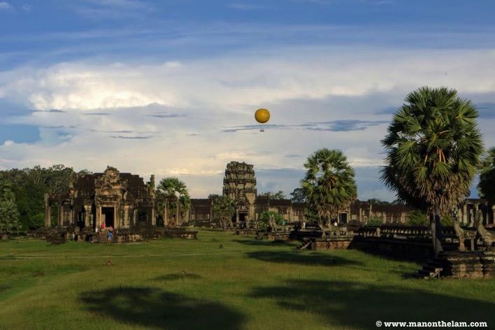 Hot air balloon over Siem Reap Cambodia