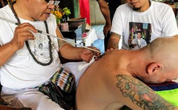 Getting a Sak Yant Tattoo in Ayutthaya Thailand