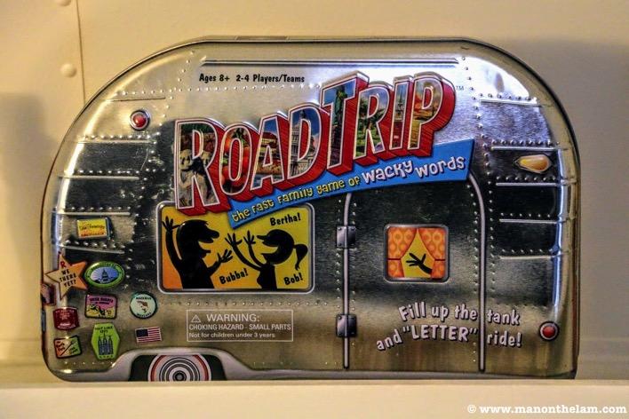 Road trip board game in Airstream retro game box