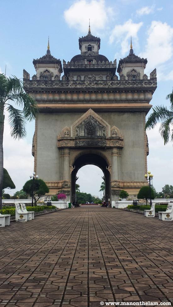 Patuxai monument things to do in Vientiane Laos