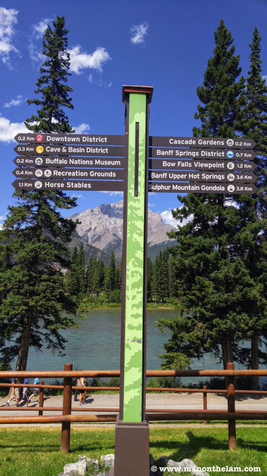 Things to do in Banff National Park sign Alberta Canada