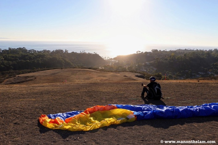 Mademan Santa Barbara California Nov 14 2013 paragliding off hill 7 032
