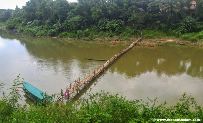 Bamboo bridge Luang Prabang Laos activities