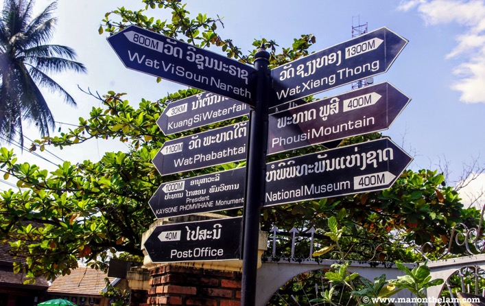 Things to do in Luang Prabang Laos signpost
