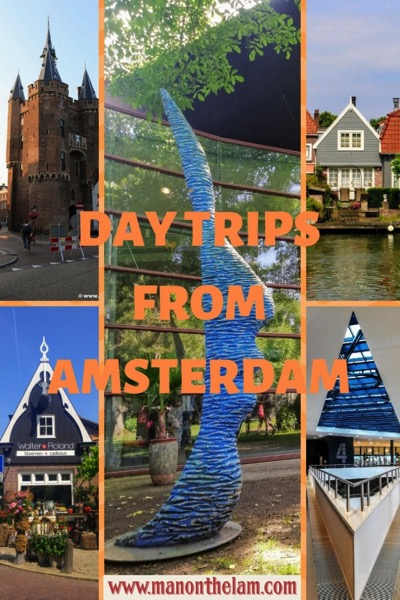 Day Trips From Amsterdam Pinterest Graphic