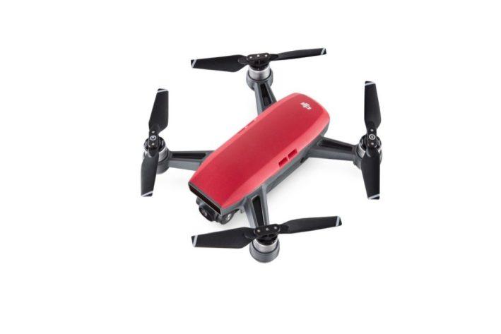DJI Spark Combo Mini Drone red