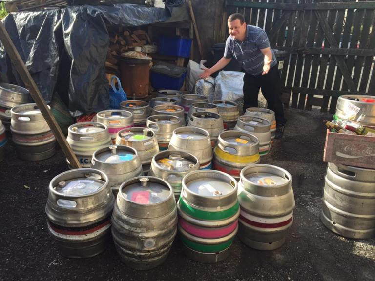 One of the barrel deliveries showing just how much that Manor Arms can go through!