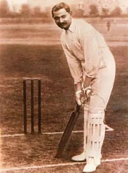 Early photo of Ranji in his cricketing days