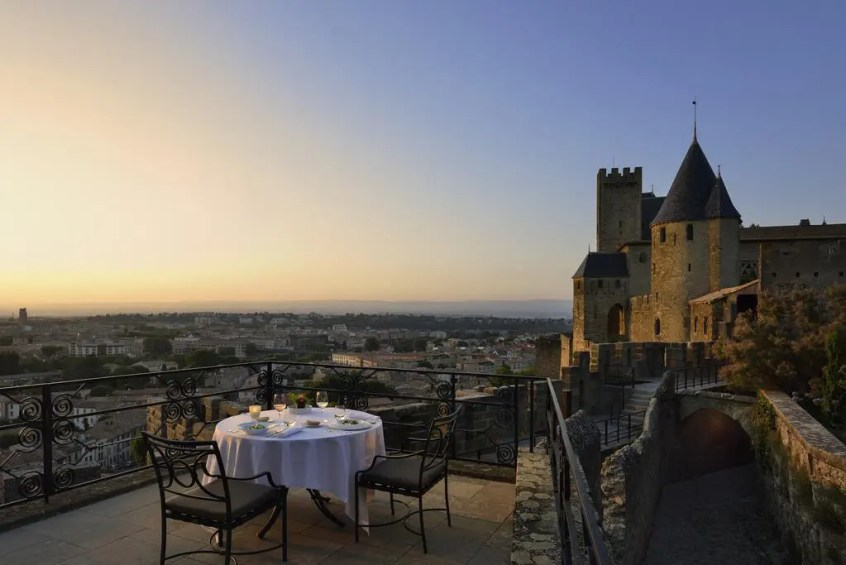 Hotel de la Cite, a 5 Star Luxury Castle Hotel in Carcassonne, South of France.