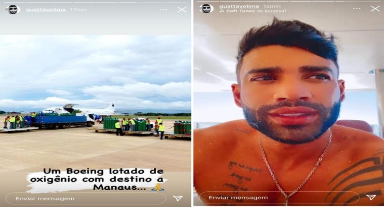 Como faço para agradecer os artistas e empresários que estão ajudado Manaus?