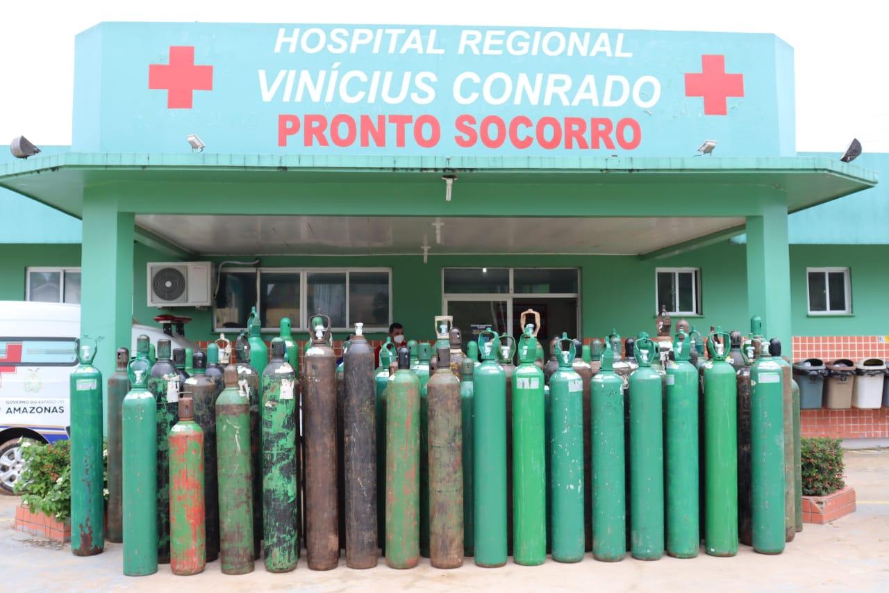 Prefeito Raylan Barroso compra cilindros de oxigênio do Acre