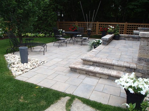 backyard patio and landscape design