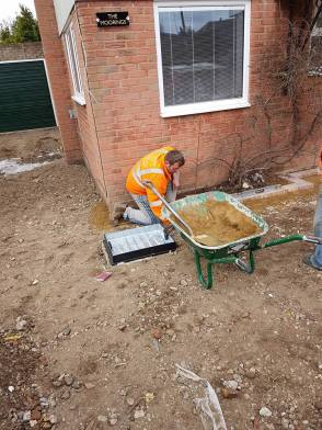 Digging out and removal of existing driveway4