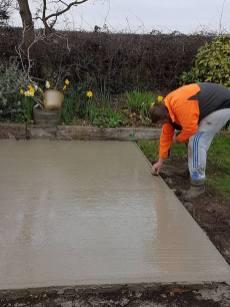Marking up & digging out shed base goldhanger9