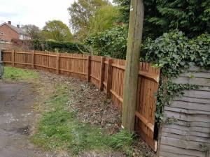 Replacement of a boundary fence (St Nicholas Road Tillingham)3