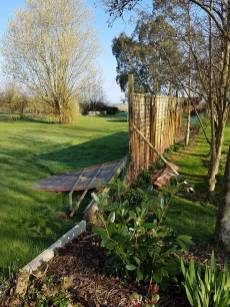Taking down existing boundary fence6