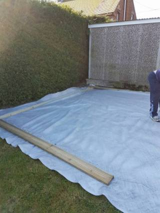 Before - preparing to build a secure level decking base (wix) 1