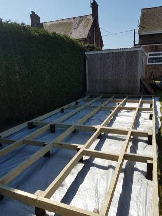 Before - preparing to build a secure level decking base (wix) 2