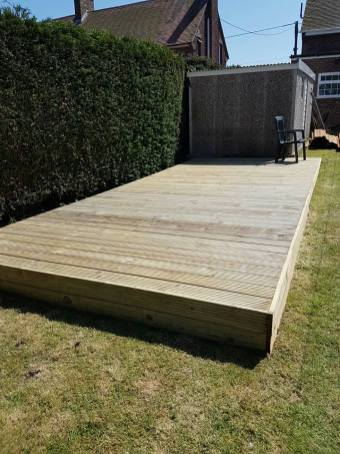 Before - preparing to build a secure level decking base (wix) 3