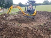 Digging out a pond goldhanger Maldon 4