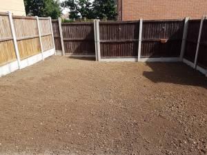 Rotavating existing garden Basildon preparing to lay turf 2