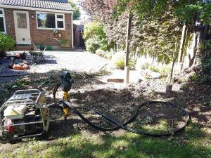Taking down existing boundary fence( Burnham-on-Crouch) before 2