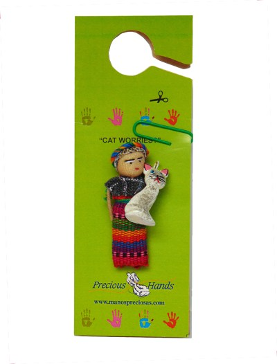 Worry Doll Cat (Includes 5 Worry Dolls)