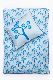 Junior Bedding – Graphic Tree Blue. Organic Cotton Size 100×140 Euro 47