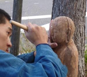 jizo-carving