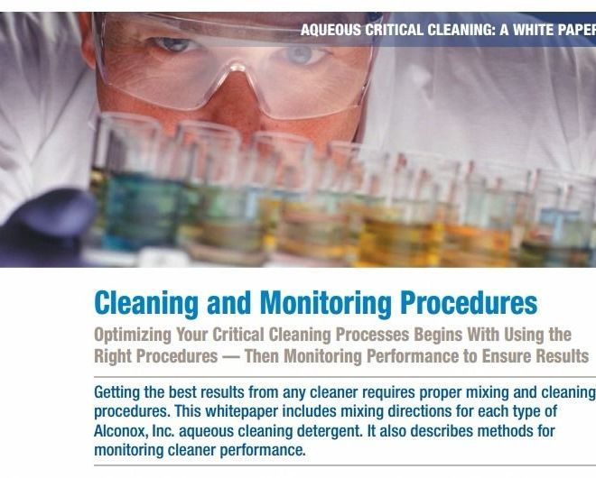 Cleaning and Monitoring Procedures