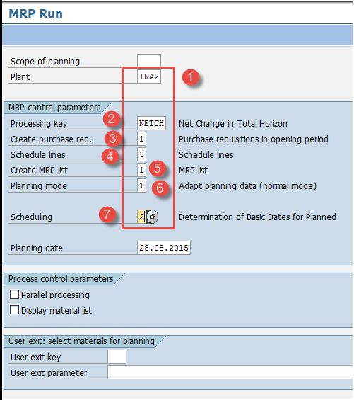 SAP MRP (Material Requirement Planning) Tutorial: MD01, MD02, MD04