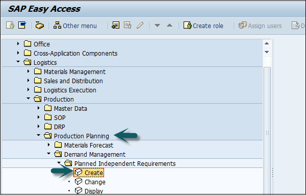 SAP PP – Long Term Planning