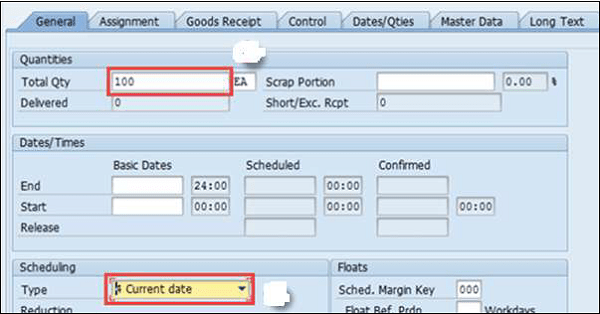 SAP PP – Production Orders