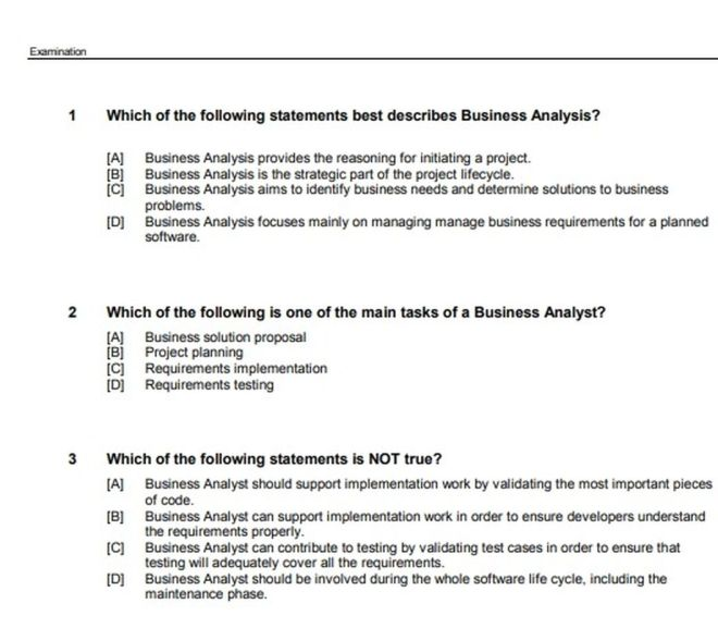 Business Management Examination Sample – PDF download