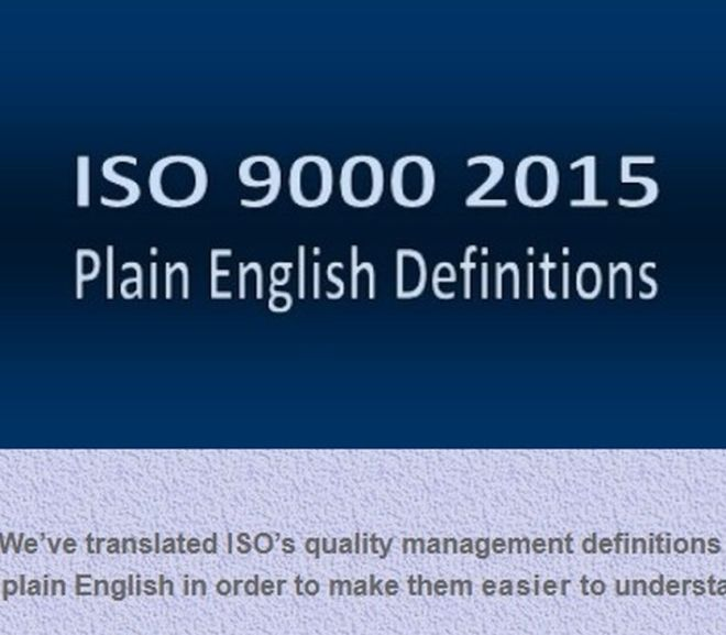 ISO 9000 2015 Plain English Definitions