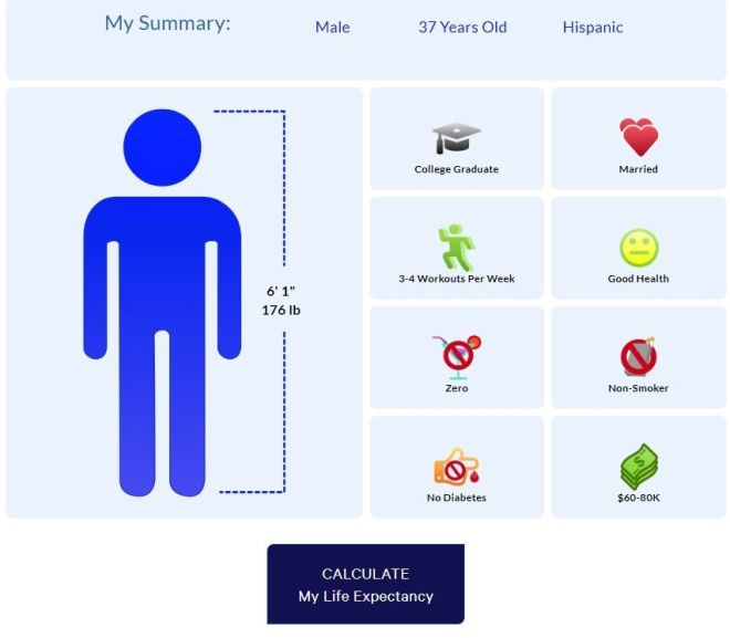 Life Expectancy Calculator Free Online
