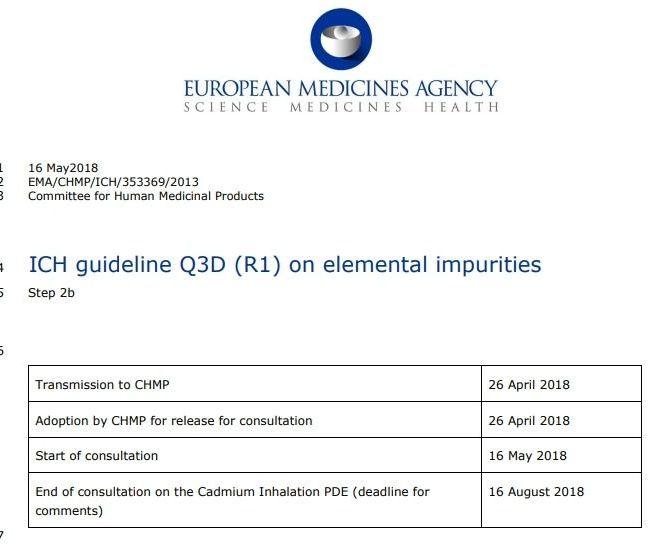 ICH guideline Q3D (R1) on elemental impurities (2018 – EMA) – Free PDF Download