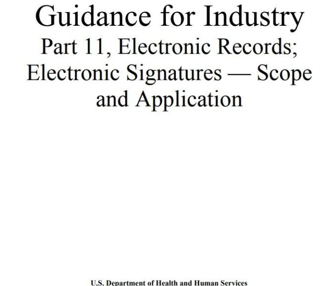 FDA Guidance for Industry Part 11, Electronic Records; Electronic Signatures – free PDF download
