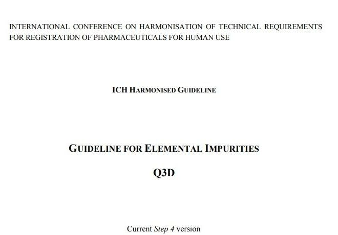 GUIDELINE FOR ELEMENTAL IMPURITIES Q3D (FDA) – Fee PDF Download