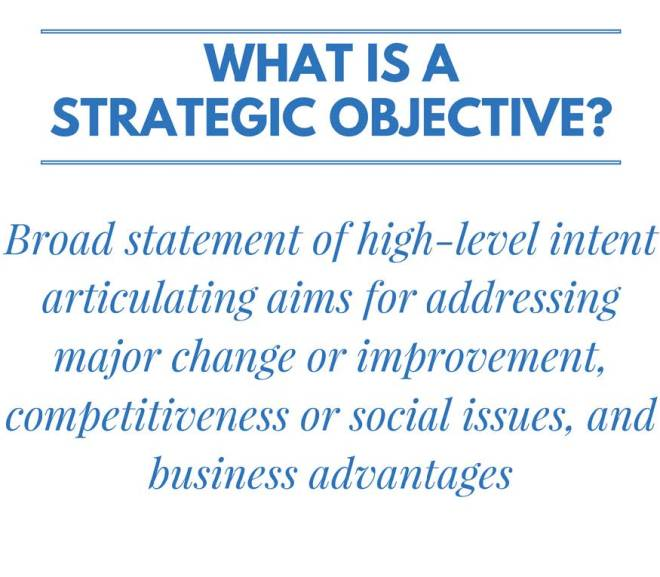 56 Strategic Objective Examples