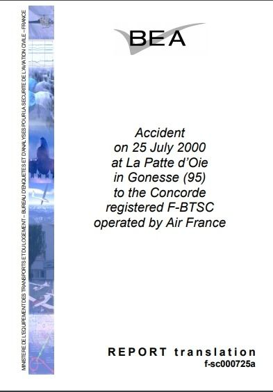 How to make a report of a Plant accident – Example of Concorde Accident July 2000