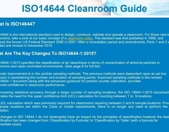 ISO14644 Cleanroom Guide