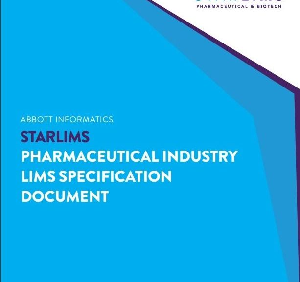 PHARMACEUTICAL INDUSTRY LIMS SPECIFICATION DOCUMENT – Free PDF download