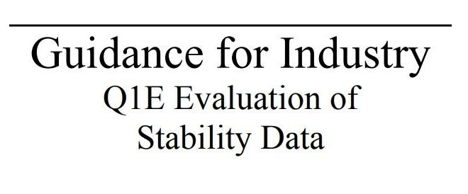 Guidance for Industry Q1E Evaluation of Stability Data – Free PDF download