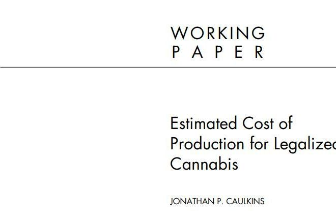 Estimated Cost of Production for Legalized Cannabis – Free PDF download