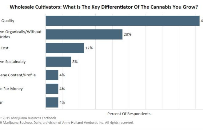 Most wholesale cultivators competing on Cannabis quality